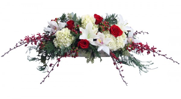 Holiday elegance centerpiece danielson flowers